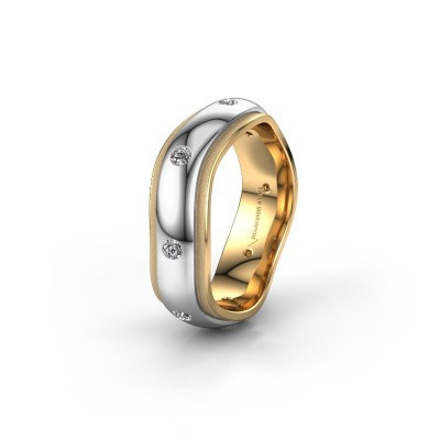 Trouwring WH2051L26DP 585 witgoud diamant ±6x2.4 mm