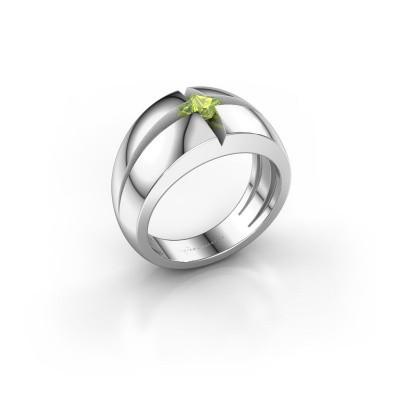 Foto van Heren ring Rens 585 witgoud peridoot 3.5 mm