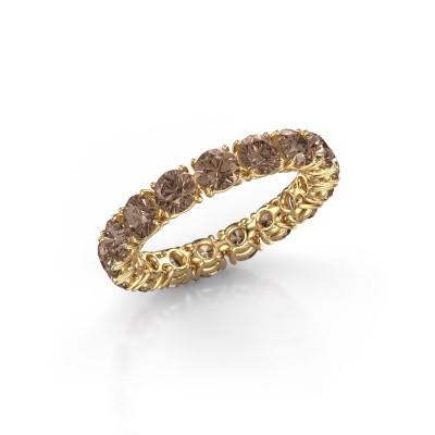Foto van Aanschuifring Vivienne 3.7 375 goud bruine diamant 3.40 crt