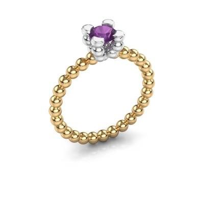 Ring Aurore 585 goud amethist 5 mm