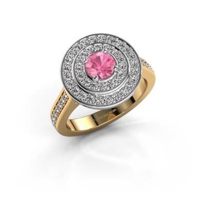 Ring Alecia 2 585 goud roze saffier 5 mm