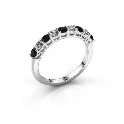 Foto van Belofte ring Michelle 9 585 witgoud zwarte diamant 0.80 crt