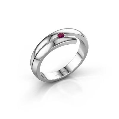 Ring Shela 585 witgoud rhodoliet 2.2 mm
