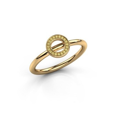 Ring Shape round small 585 goud gele saffier 0.8 mm