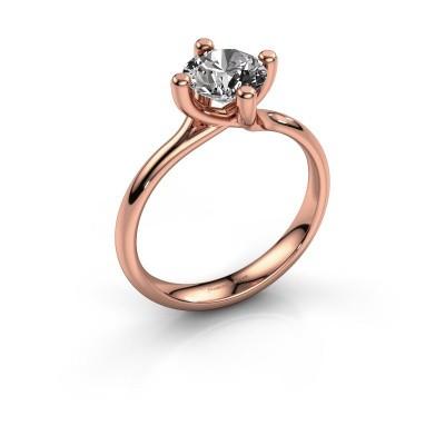Engagement ring Dewi Round 375 rose gold diamond 1.00 crt