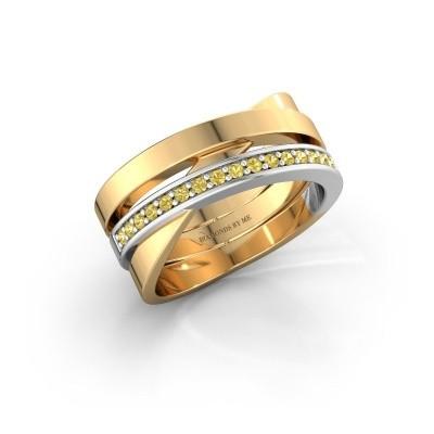 Ring Yolando 585 goud gele saffier 1.3 mm