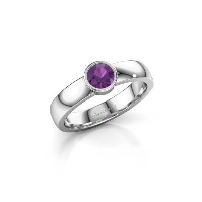 Foto van Ring Ise 1 925 zilver amethist 4.7 mm
