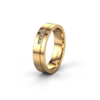 Trouwring WH0307L15AP 585 goud zirkonia ±5x1.7 mm