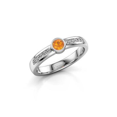 Engagement ring Ise 2 585 white gold citrin 3.7 mm