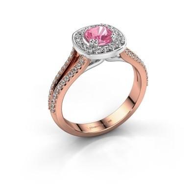 Engagement ring Carolina 2 585 rose gold pink sapphire 5 mm