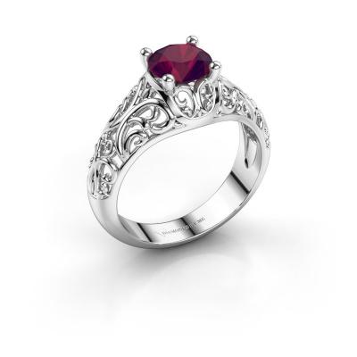 Ring Mirte 925 zilver rhodoliet 6.5 mm