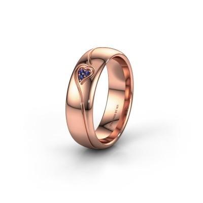 Wedding ring WH0168L36AP 375 rose gold sapphire ±6x1.7 mm