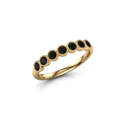 Picture of Ring Mariam half 375 gold black diamond 0.462 crt