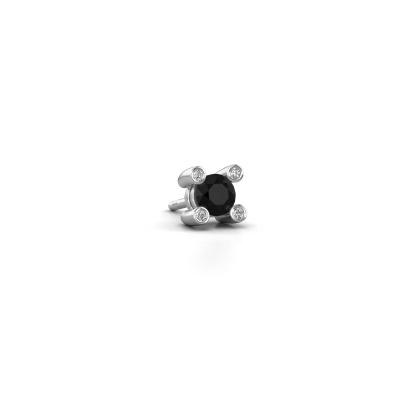 Photo de Boucle d'oreille homme Mick 585 or blanc diamant noir 0.38 crt