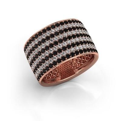Foto van Ring Macy 375 rosé goud zwarte diamant 2.512 crt