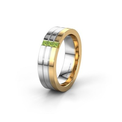 Wedding ring WH0428L16BP 585 gold peridot ±0.24x0.08 in
