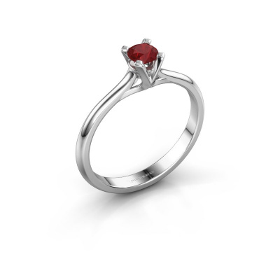 Picture of Engagement ring Isa 1 585 white gold ruby 4 mm
