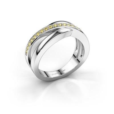 Foto van Ring Colette 925 zilver gele saffier 1.3 mm