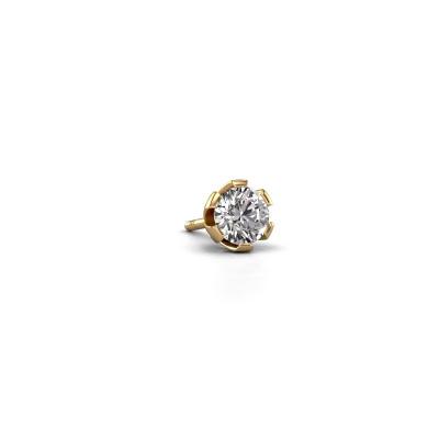 Photo de Boucle d'oreille homme Donato 585 or jaune diamant 0.40 crt