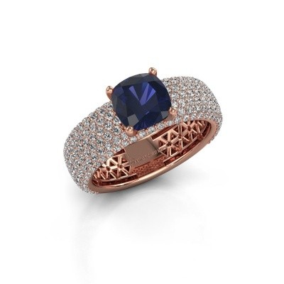 Engagement ring Darcy 375 rose gold sapphire 7 mm