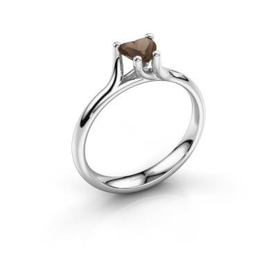 Verlobungsring Dewi Heart 925 Silber Rauchquarz 5 mm