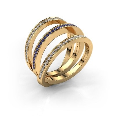 Ring Jaqueline 375 Gold Saphir 1 mm