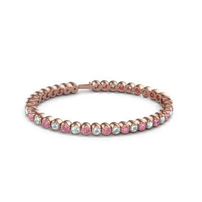 Foto van Tennisarmband Mellisa 375 rosé goud roze saffier 3.5 mm