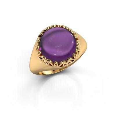 Ring Birgit 585 goud amethist 12 mm