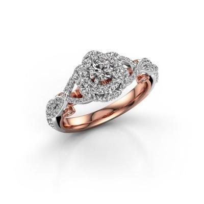 Foto van Verlovingsring Cathryn 585 rosé goud lab-grown diamant 0.864 crt