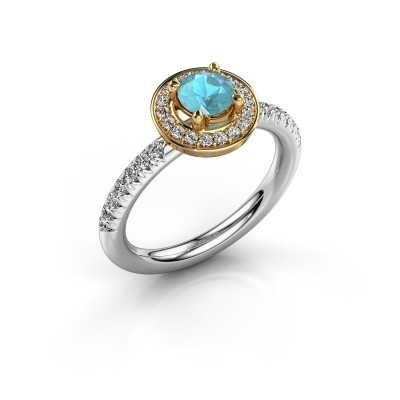 Picture of Ring Christine 585 white gold blue topaz 5 mm