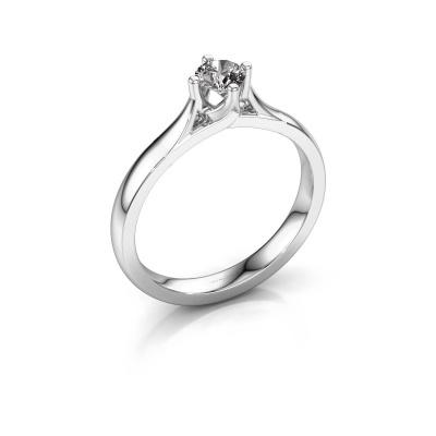 Verlovingsring Eva 585 witgoud lab-grown diamant 0.30 crt