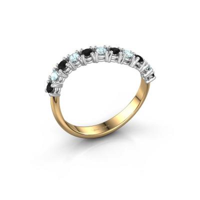 Ring Eliza 585 goud zwarte diamant 0.216 crt