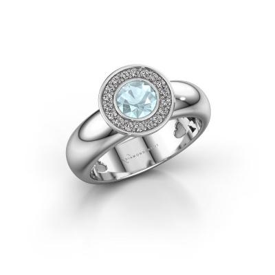 Stacking ring Anna 925 silver aquamarine 5 mm