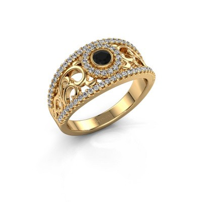 Foto van Ring Lavona 585 goud zwarte diamant 0.53 crt