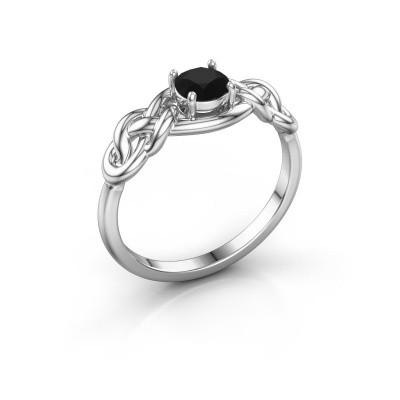 Foto van Ring Zoe 585 witgoud zwarte diamant 0.60 crt