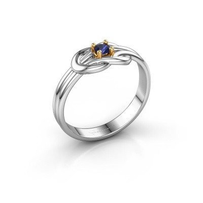 Foto van Ring Marina 585 witgoud saffier 3 mm