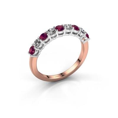 Foto van Belofte ring Michelle 9 585 rosé goud rhodoliet 2.7 mm