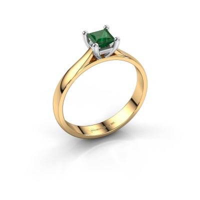 Verlobungsring Sam Square 585 Gold Smaragd 4 mm