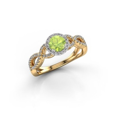Engagement ring Dionne rnd 585 gold peridot 5 mm
