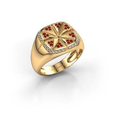Foto van Heren ring Ravi 585 goud robijn 1 mm