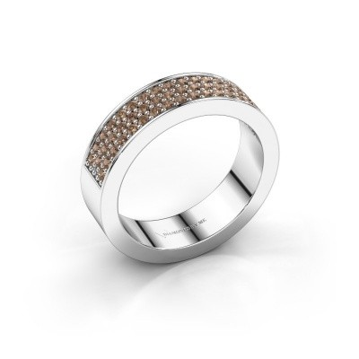 Foto van Ring Lindsey 4 585 witgoud bruine diamant 0.53 crt
