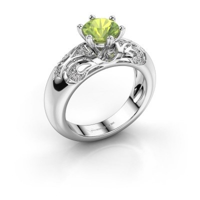 Ring Maya 950 Platin Peridot 6.5 mm