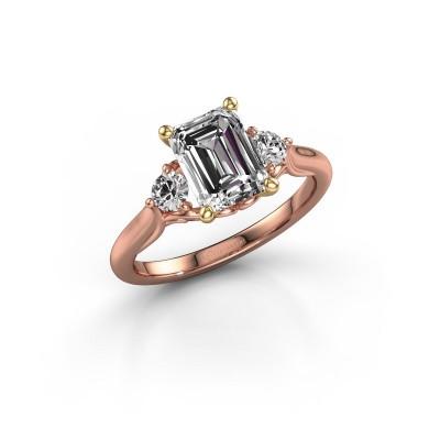 Photo de Bague de fiançailles Laurian EME 585 or rose diamant synthétique 1.99 crt