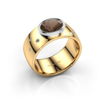 Ring Wilma 2 585 goud rookkwarts 8x6 mm