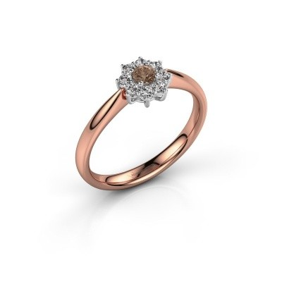 Picture of Engagement ring Carolyn 1 585 rose gold brown diamond 0.10 crt