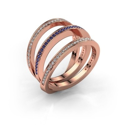 Ring Jaqueline 375 Roségold Saphir 1 mm