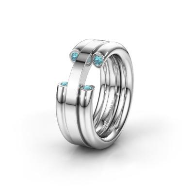 Ehering WH6018L 925 Silber Blau Topas ±8x3 mm