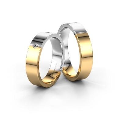 Bild von Eheringe set WH1101LM15AP ±5x1.7 mm 14 Karat Gold Diamant 0.02 crt