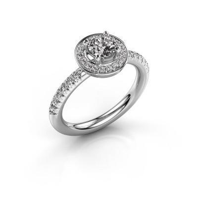 Foto van Ring Christine 950 platina diamant 0.845 crt