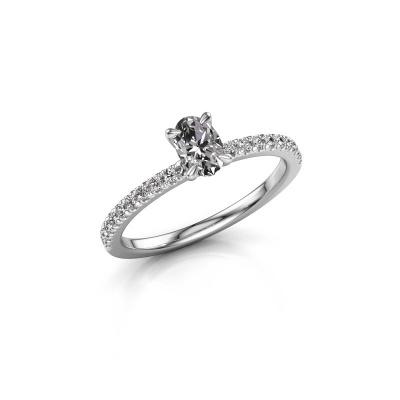 Foto van Verlovingsring Crystal OVL 2 585 witgoud diamant 0.680 crt